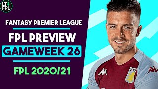 FPL Gameweek 26 Preview | How many hits to take for DGW26? | Fantasy Premier League Tips 2020/21