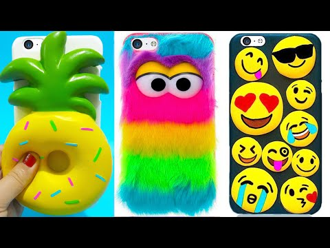 5 DIY STRESS RELIEVER PHONE CASES   Easy & Cute Phone Projects & iPhone Hacks