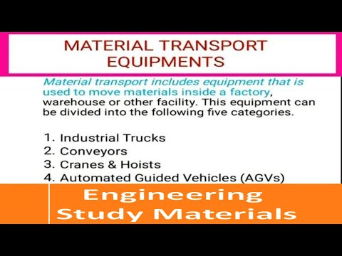 Material Handling Equipment | Material Handling System | PPT | ENGINEERING STUDY MATERIALS