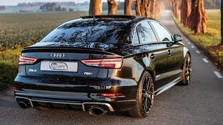 2019 500hp(!) AUDI RS3 SEDAN REVO - Ultimate pocket rocket? - Panther black, details, awesome wheels