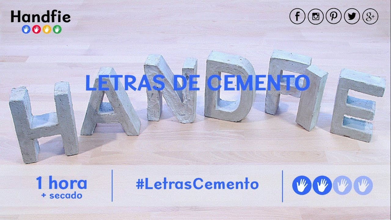 C mo hacer letras de cemento decorativas handfie youtube - Como hacer letras decorativas ...