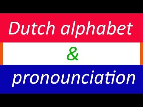Dutch for Beginners: Lesson 1 - Dutch Alphabet and Phonetics