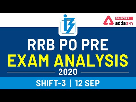 IBPS RRB PO Prelims Exam Analysis & Review - 12 September 2020, Shift 3