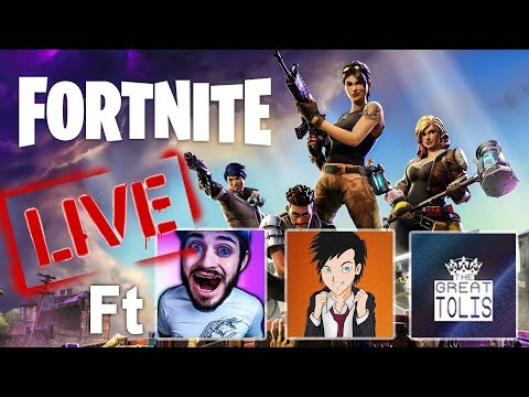 FORTNITE ΠΡΩΤΗ ΦΟΡΑ LIVE ft Axel,Antonisx007GR,The Great Tolis
