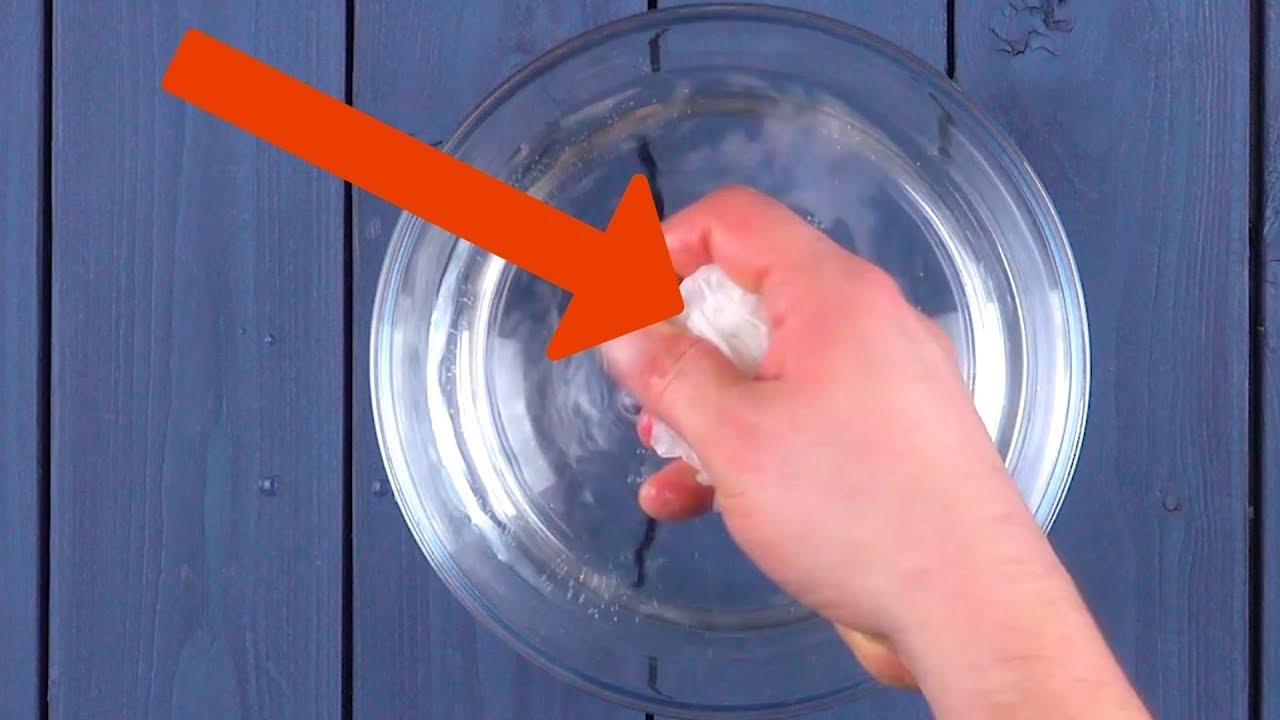 Schmeiß Zerknülltes Backpapier Ins Wasser Hole Dann 6 Youtube