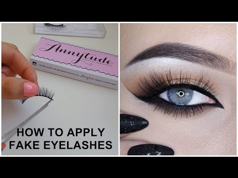 How to apply fake eyelashes - Makeupbyan thumbnail