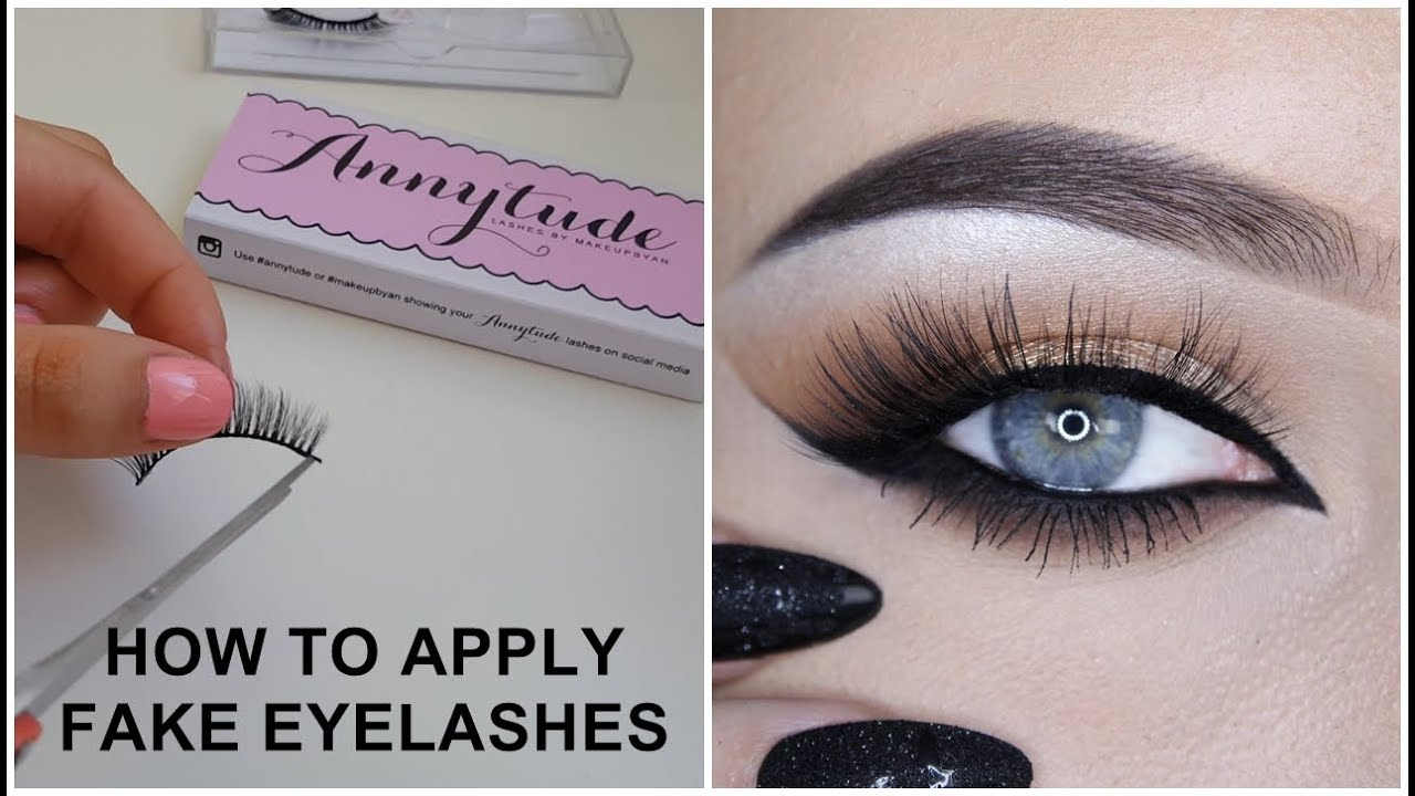 How To Apply Fake Eyelashes Makeupbyan Youtube