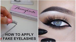 How to apply fake eyelashes - Makeupbyan