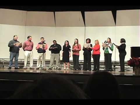 Faculty Choir at Tupelo Middle School