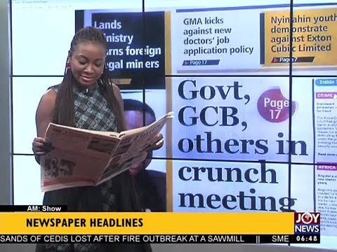 AM Show Newspaper Headlines on JoyNews (24-8-17)