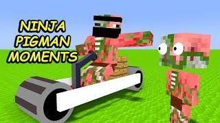 Monster School : NINJA PIGMAN MOMENTS PART 2 - Minecraft Animation