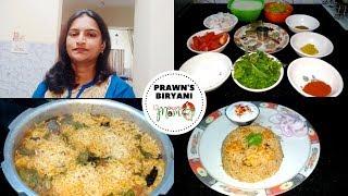 Indian mom Lunch Routine || Vlog || Prawns Biryani Recipe