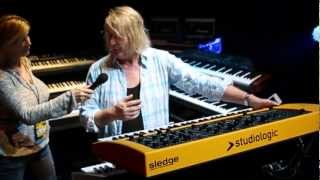 Studiologic Sledge on tour with keyboardist Geoff Downes from the band Yes