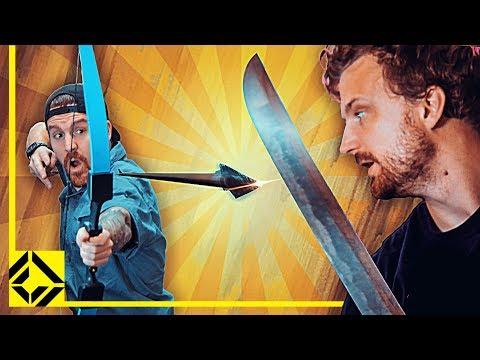 Can You Slice an Arrow Mid-air With a Sword?
