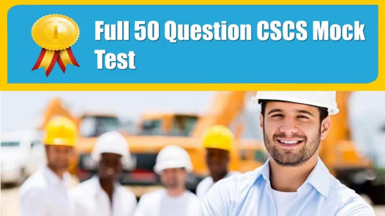 CSCS Mock Test  CSCS Revision  CSCS Test Questions