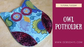 Sew an Owl Potholder for the Kitchen Craft Project