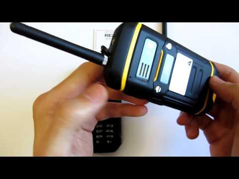 Видео обзор Противоударного Land Rover X6 + рация PTT ip-68 Защищенный кнопочный телефон с рацией