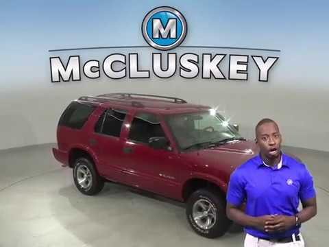 A13814DT Used 2003 Chevrolet Blazer LS RWD 4D Sport Utility Red Test Drive, Review, For Sale -