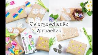 Ostergeschenke verpacken - 5 schöne Ideen🌷🌷🌷 - in Zusammenarbeit mit Playbrush