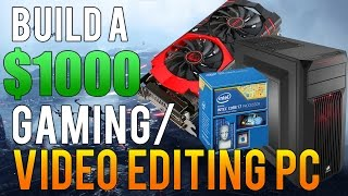 Build a $1000 Gaming/Streaming/Video Editing PC | Plays Fallout 4, COD Black Ops 3 at 1080p & 1440p