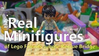 The Real Minifigures Of Lego Friends Jungle Bridge Rescue Set #41036