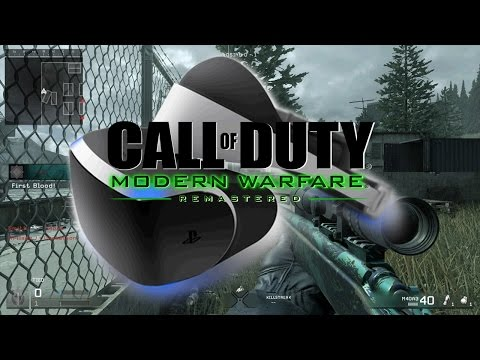 Sniping in VR on PS4 PRO - (Call of Duty Modern Warfare Remastered)