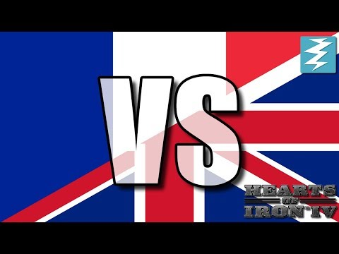 France Vs United Kingdom Ep13 - Hearts of Iron 4 (HOI4)