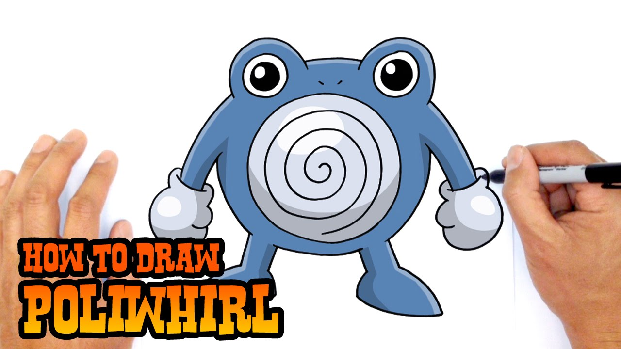 how to draw poliwhirl pokemon youtube