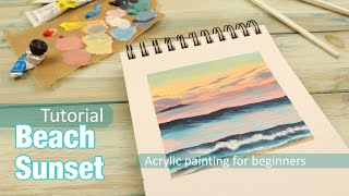 Beach at Sunset - How to Paint