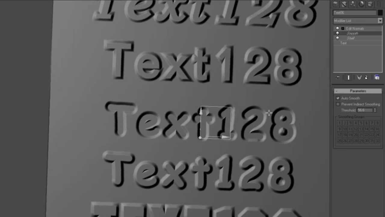3d Text In 3ds Max Youtube
