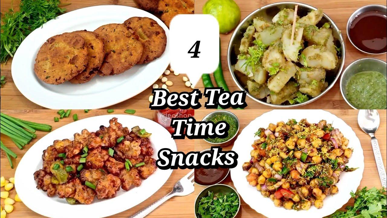 4 best tea time snacks | tea time snacks recipe | instant snacks | quick evening snacks recipes