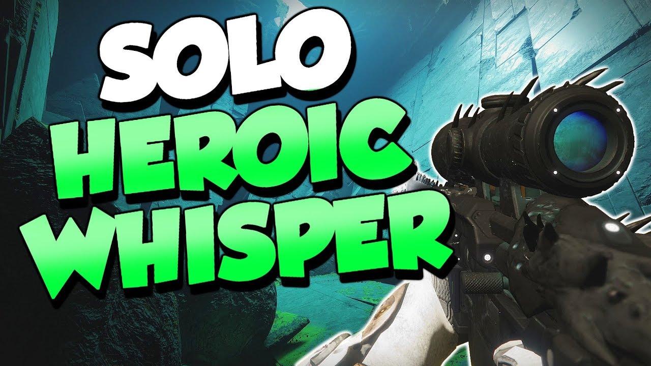 Whisper of the Worm Heroic Solo! Warlock [Destiny 2]