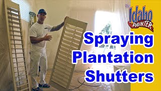 Tips painting interior plantation shutters with an airless paint sprayer. Simple tips to painting your interior shutters. Do it yourself