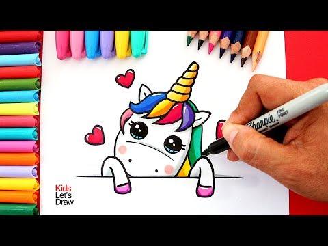 Cómo Dibujar Un Unicornio Kawaii Por San Valentín How To