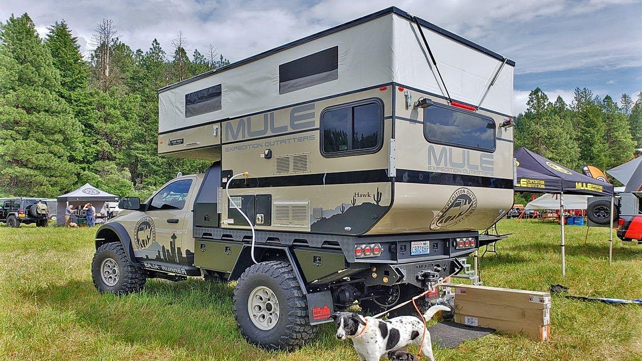 Four Wheel Camper Hawk Flat Bed Interior Walk Thru Mule Baja Runner W Norweld Aluminum Bed Youtube