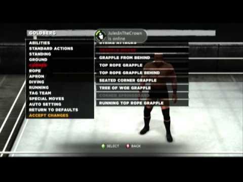 WWE 13 Goldberg Moveset