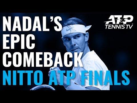 Rafa Nadal Saves Match Point in EPIC Comeback vs Medvedev | Nitto ATP Finals 2019