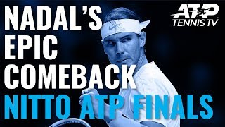 Rafa Nadal Saves Match Point in EPIC Comeback vs Medvedev | Nitto ATP Finals 2019