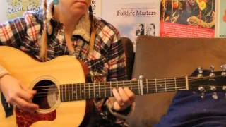 acadian tune -vieux cotillon des iles- flatpicked on acoustic guitar
