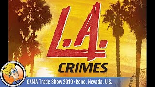Detective: A Modern Crime Board Game – L.A. Crimes — game overview at GAMA Trade Show 2019