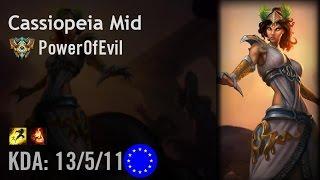 Cassiopeia Mid vs Fiora - PowerOfEvil - EUW Challenger Path 6.3