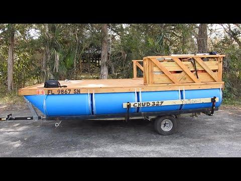 My Cheap Homemade Pontoon Boat Build #2