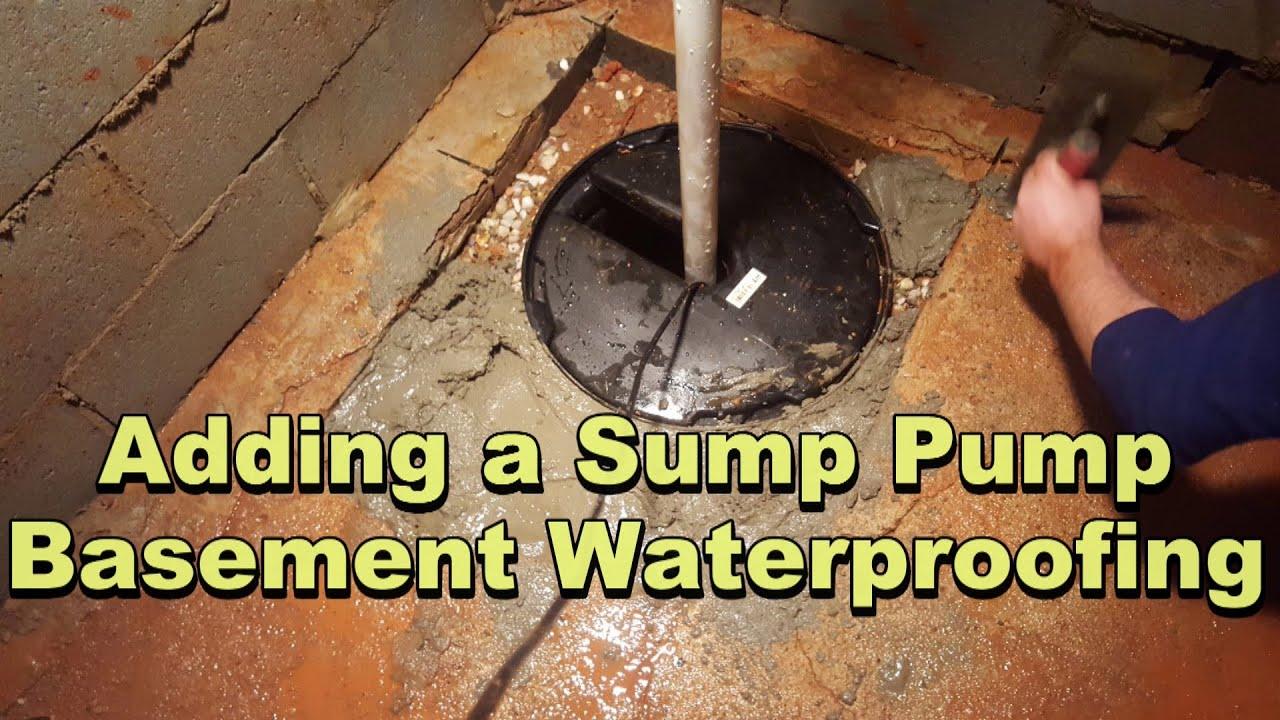 Interior Basement Waterpoofing
