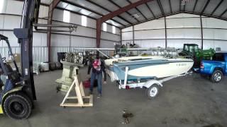 "Project Glastron/vlog #3 ""redneck Outboard Removal"""