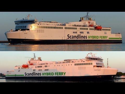 Die SCANDLINES Hybrid Fähren der ROSTOCK - GEDSER Linie