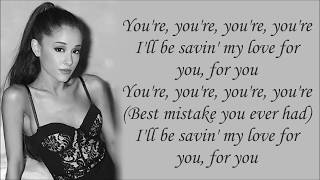 Download Ariana Grande ~ Best Mistake ft. Big Sean ~ Lyrics Mp3