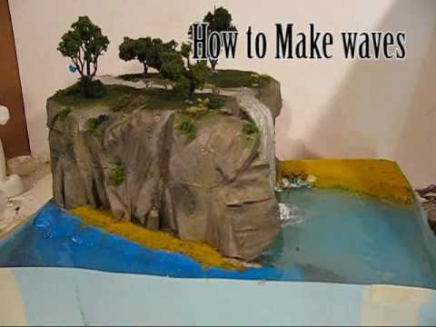 make diorama water effects youtube