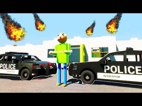 BALDI'S SCHOOLHOUSE GET SWATTED - Brick Rigs Roleplay