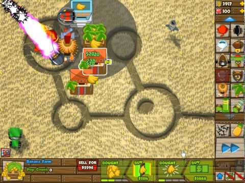 BTD5 Track 3 (Cropcircles) Hard NLL Walkthrough (No Roadspikes needed)