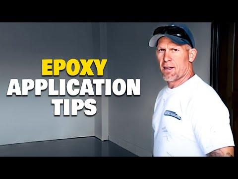 Applying Epoxy to Concrete Garage Floor   How To Epoxy A Floor.